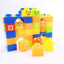 Bộ đồ chơi xếp hình bằng nhựa lắp ghép thông minh 25 chi tiết cho bé,