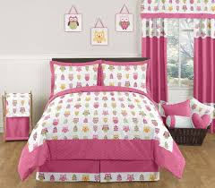 full kids bedding size sets spillo caves girls pink owl fullqueen comforter set collection ideas view