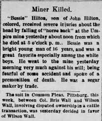 Bessie Hilton 1869 - 1885, Son of John Hilton - Newspapers.com