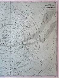 Southern Sky Star Chart Southern Sky Star Chart Map Constellations 1873 Fine Old