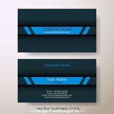 Dark Background Blue Stripes Business Card Design Vector