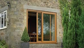 hardwood sliding patio door