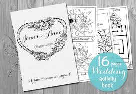 kids wedding activity book printable personalized booklet pdf pages template children s activity sheets