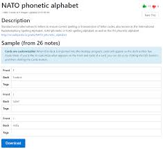 The nato phonetic alphabet is what people used during ww2 to make sure they didn't do something dumb because they misheard the orders through the radio, and is now more commonly used to make sure your name isn't misspelt when trying to set up a new account for your gas and electricity bills. Anki Beginner Steps O Hare Blog