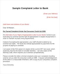 Letter Format For Bank Complaint - Socialbo.co