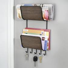 office door mail holder. Amazon.com: MDesign Magazine, Mail/Letter Holder, Key Rack Organizer For Office Door Mail Holder