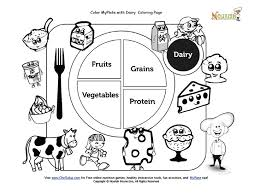 Small Picture Color My Plate Dairy Coloring Page Nutrition My Preschool