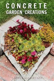 how to make hypertufa concrete garden creations