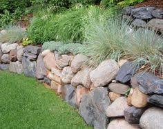 Small Picture Stone Garden Wall Home Backyard Retaining Wall Pinterest