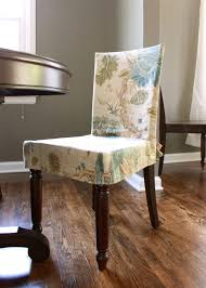 dining room simple gray fabric upholstered seat cover with short retro white slipcover traditional fl pattern