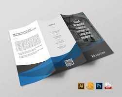 Corporate Trifold Brochure Design Stationary Template In Eps Ai Psd Pdf Versions Instant Download