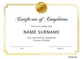 Graduation Templates Word 40 Fantastic Certificate Of Completion Templates Word Sample