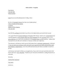 Sample Cover Letter With Referral Letter Template
