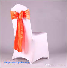 whole fancy colorful satin chairs sash wedding chair sashes