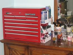 makeup tool box. it\u0027s a craftsman toolbox. i used to use sterlite drawers, but soon grew out of them. sure, not the best for moving around, sturdy, makeup tool box n