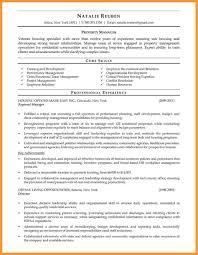 Executive Property Manageresume Accomplishments Sampleegional