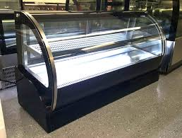 new 59 curved glass stainless steel deli cake display refrigerator countertop