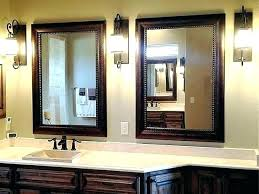 stylish framed bathroom mirror vanity mirrors large black elegant wood medium size of frames for lar