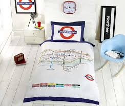 underground london undgerground duvet cover and pillowcases bedding bed set single white co uk kitchen home