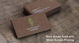 Brown Kraft Business Cards From Jukeboxprint Com