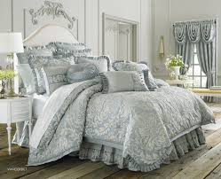 glamour paisley flowers pattern light blue comforter sets with intended for queen comforter sets