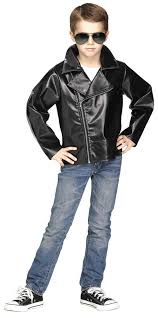 child s black 50s rock n roll jacket