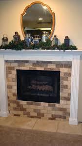 tumbled stone fireplace