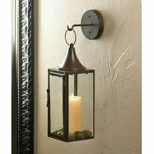 brown iron hanging sconce candle holder