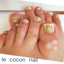 Summerキラキラフットネイル Le Cocon Nail