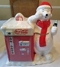 Coke Polar Bear In Bottle Vending Machine Beauteous Amazon Coca Cola Polar Bear Coke Machine Cookie Jar Kitchen
