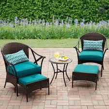 mainstays skylar glen 5 piece outdoor leisure set blue