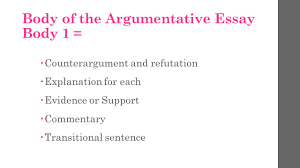 what is a transition sentence in an essay cover letter  argumentative essay take notes types of argumentative essays the argumentative essay body 1 61590 counterargument and