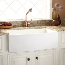 30 pendleton fireclay farmhouse sink curved front