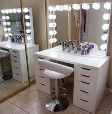 home and furniture elegant mirror makeup vanity of vanity mirror with desk lights desk light