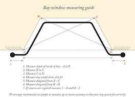 bay window measuring guide iron bay window curtain poles