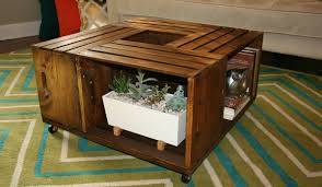... Diy Wooden Crate Coffee Table DIY Wooden Wine Crate Coffee Table   Johnson County .