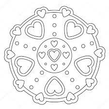 Disegni Di Cuori Facili Disegni Da Colorare Mandala Di Cuore