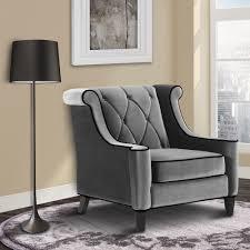 grey velvet chair. Modren Velvet Shop Modern Grey Velvet Chair  Free Shipping Today Overstockcom  6625462 Inside