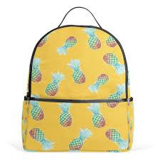 Yellow Designer Backpack Amazon Com Alaza Kawaii Backpack Yellow Pineapple College