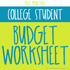 How To Budget As A College Student College Student Budgeting Worksheet Free Printable