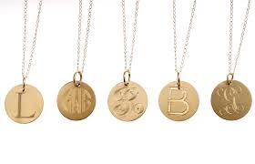 gold initial disk necklace wallpaper gallerychitrak org