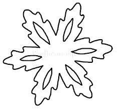 Snowflake Templates Stencil Template Free Printable For Kids
