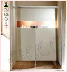 sliding glass shower door frame parts frameless