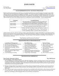 Sales Representative Resume Template Sarahepps Com