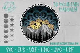 *you must unzip the zip file to use it, please do not. 3d Mandala Svg Layered Mountain Svg Tree Silhouette 721546 Paper Cutting Design Bundles