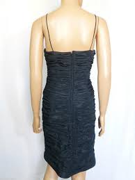 Teri Jon Black New Shimmer Taffeta Short Cocktail Dress Size 12 L 58 Off Retail