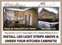 kitchen led lighting strips. Install LED Light Strips Under Kitchen Cabinets Led Lighting