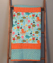 Baby quilt, baby boy quilt, gender neutral baby quilt, handmade ... & Baby quilt, baby boy quilt, gender neutral baby quilt, handmade baby quilts,  nursery, blue orange baby blanket, cotton flannel, baby gift Adamdwight.com