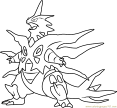 Small Picture Mega Tyranitar Pokemon Coloring Page Free Pokmon Coloring Pages