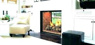 two sided gas fireplace outdoor double dual indoor wood burning